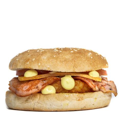 Le montagnard burger du Jack's express de Castres.