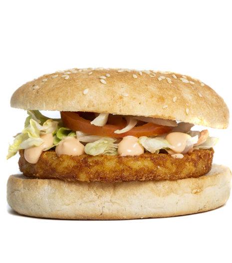 Le végétarien burger du Jack's express de Castres.
