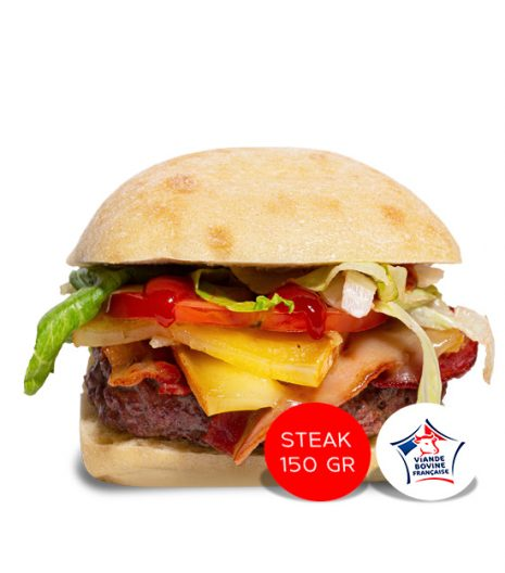 Le burger de Cynthia Jack's Express Castres