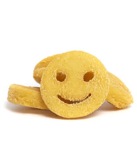 Smiley Beignets de pommes de terre.