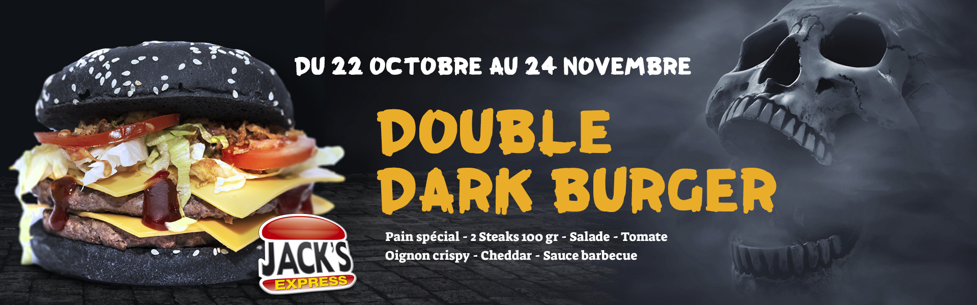 Double Dark burger au Jack's express de Castres