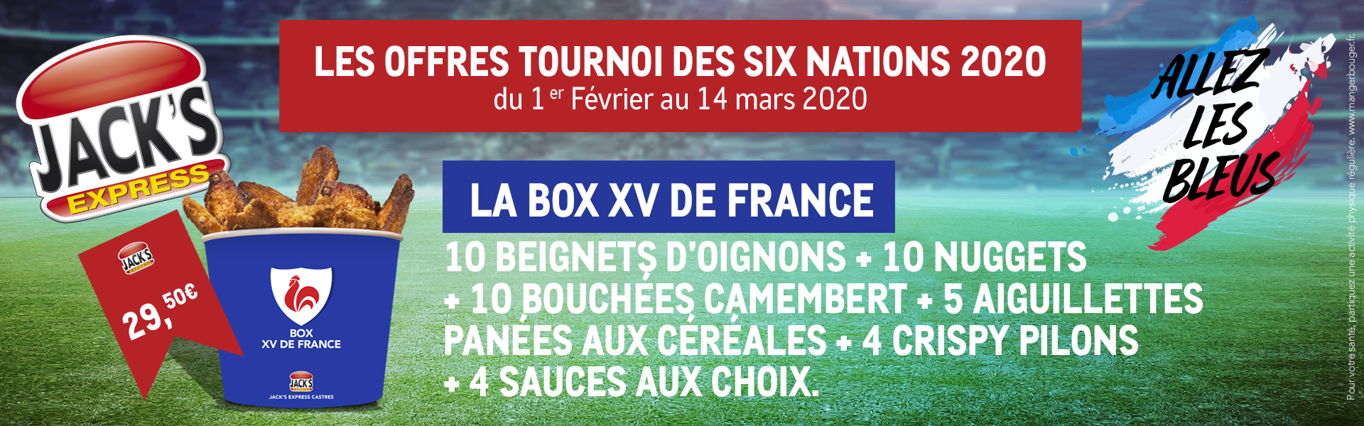 Promo box XV de France tournoi des six nations rugby