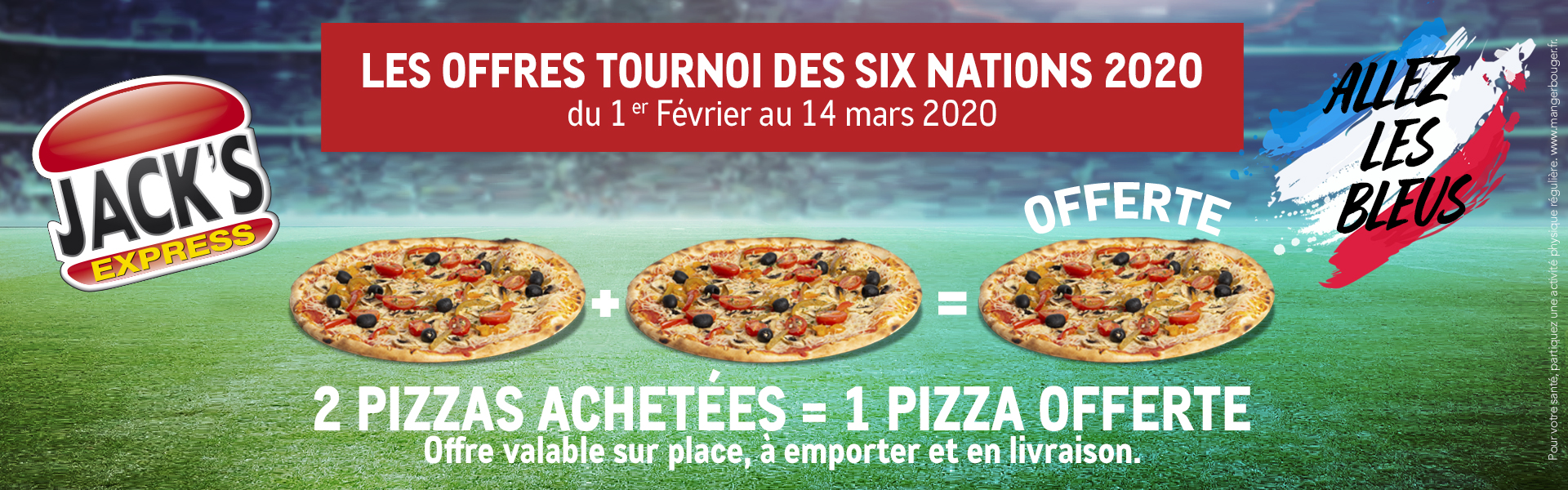 Promo pizzas tournoi des six nations rugby