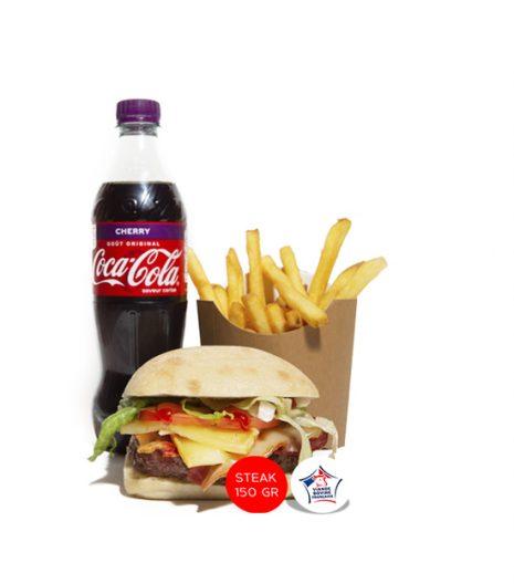 Menu XL le burger de Cynthia jack's Express Castres